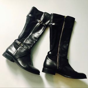 Cole Haan Black Leather Riding Boots size 9B